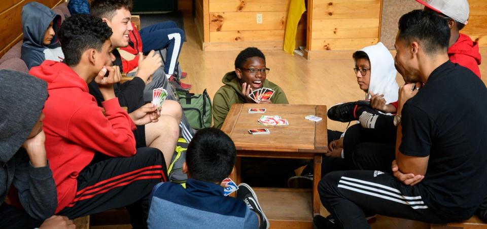 City Poly students socializing
